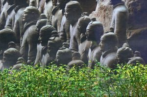 Chinese army statues