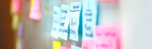 Post-it Notes on a Whiteboard