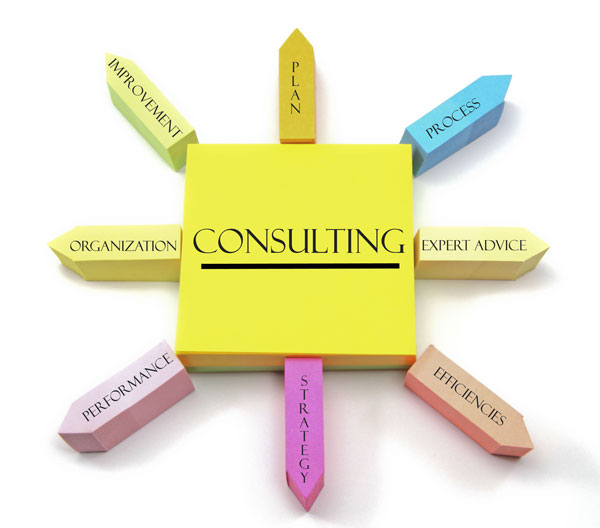 Consulting Post it notes