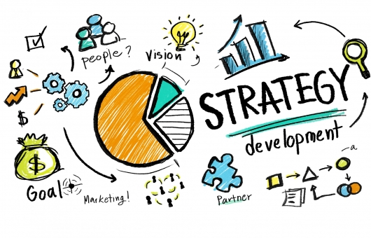 Strategy Development Goal Marketing Vision Planning Business Con